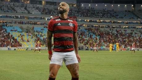 """Gabigol dança """"Nego Ney!"""" após marcar seu primeiro gol na vitória do Flamengo (Foto: Alexandre Vidal/Flamengo)"""