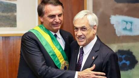 Piñera compareceu à posse de Bolsonaro; presidente do Chile já deu diversos sinais de afinidade com o brasileiro