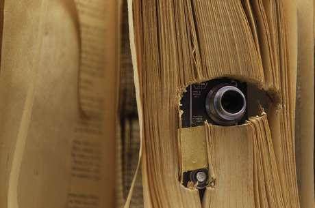 Câmera oculta utilizada para espionagem é exibida em museu dos Estados Unidos 10/07/2013 REUTERS/Ina Fassbender