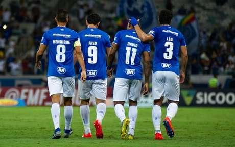 David(camisa 11) foi o grande nome do ataque estrelado no jogo diante da Veterana-(Foto: Bruno Haddad/Cruzeiro)