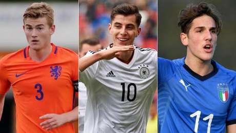 Matthijs De Ligt, Kai Havertz e Nicolo Zaniolo são alguns dos jovens que estarão em campo (Divulgação)
