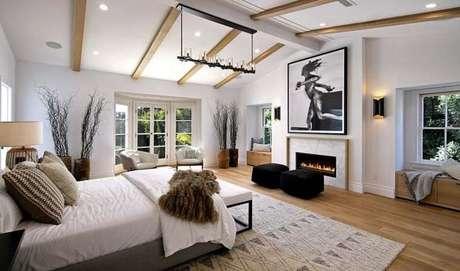Muito clean este quarto!