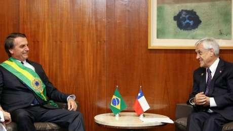 Piñera convidou políticos do país para um jantar neste sábado em homenagem a Bolsonaro, mas opositores disseram que não vão