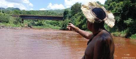 O rio Paraopeba: praticamente morto após a tragédia de Brumadinho