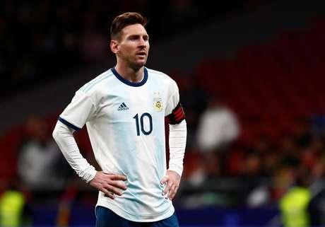 Messi no amistoso da Argentina contra a Venezuela
