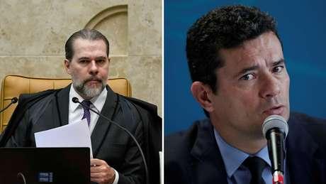 O presidente do Supremo Tribunal Federal, Dias Toffoli, e o ministro da Justiça e Segurança Pública, Sérgio Moro