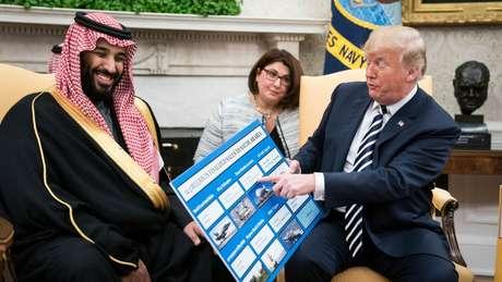 Trump defendeu a venda de armas à Arábia Saudita mesmo depois do assassinato do jornalista Jamal Khashoggi, morto no consulado saudita na Turquia