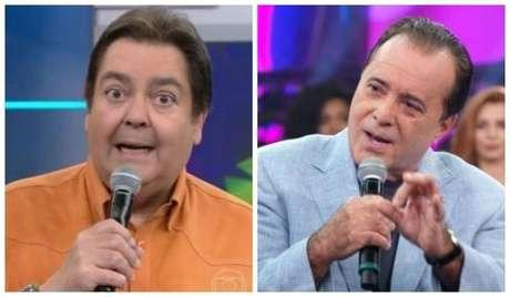 O apresentador Faustão e ator Tony Ramos.