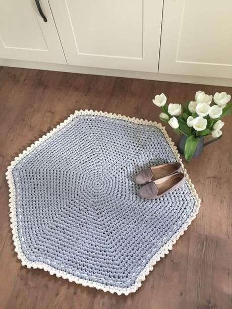 66. Modelo diferente de tapete de crochê simples – Foto: Love Crochet