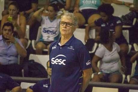 Bernardinho durante jogo do Sesc-RJ contra o São Caetano