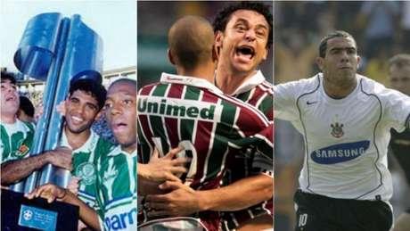 Confira parcerias entre clubes brasileiros e empresas com grandes aportes financeiros (Foto: Montagem/Lancepress!)