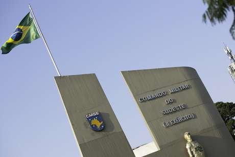 Fachada principal de quartel do Comando Militar do Sudeste, na zona sul da capital paulista