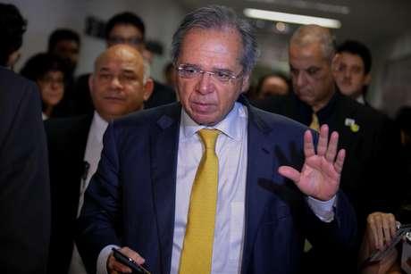 O ministro Paulo Guedes, chefe da equipe econômica