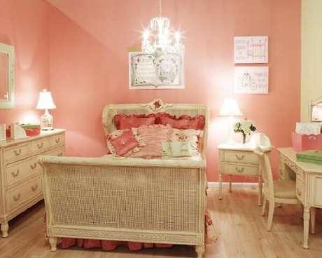 c98b3995c9325 28- No quarto feminino, as paredes tem cor de salmão. Fonte: Ideias