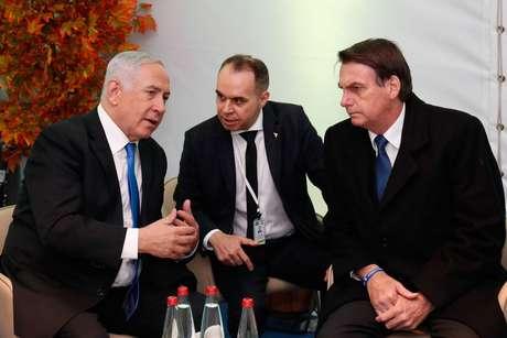 Bolsonaro realiza visita oficial de três dias a Israel e se reúne com o primeiro-ministro de Israel, Benjamin Netanyahu