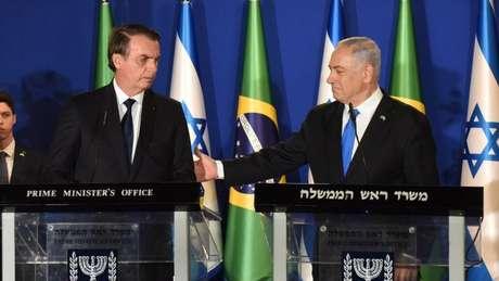 A Autoridade Palestina criticou a decisão de Bolsonaro de ir ao Muro com Benjamin Netanyahu