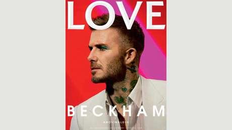 David Beckham na capa da revista 'Love' (Fotografia: Call This Number - Steve Mackey e Douglas Hart, Direção criativa: Katie Grand, Maquiadora: Miranda Joyce)