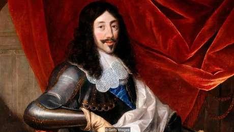 Retrato feito pelo pintor Justus van Egmont do rei Luís 13, que adorava maquiagem