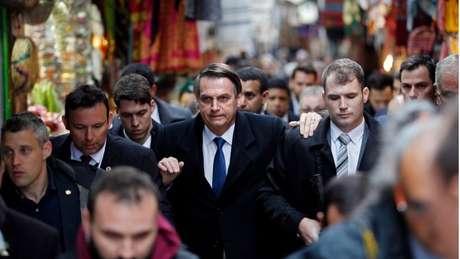 O presidente Jair Bolsonaro faz visita oficial a Jerusalém