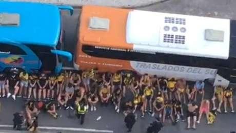 Uruguaios foram detidos pela polícia após a confusão no Rio