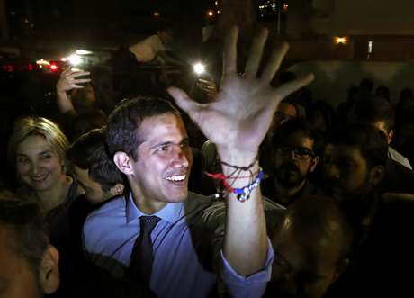 Líder de oposição venezuelano Juan Guaido em Caracas 02/04/2019 REUTERS/Ivan Alvarado