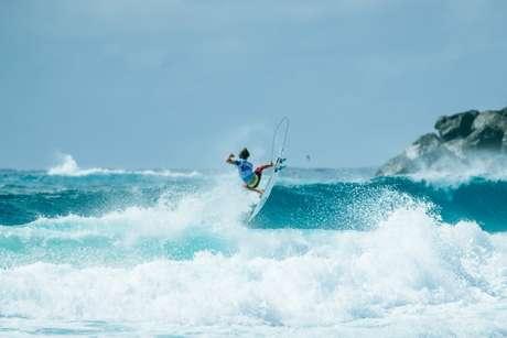 Aos 17 anos, Mateus Herdy passou para a terceira fase em Gold Coast, em sua estreia no WCT (Foto: Divulgação/WSL)