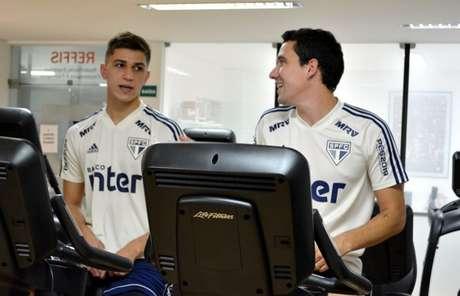 Vitor Bueno e Pablo no Reffis - FOTO: Érico Leonan/saopaulofc.net