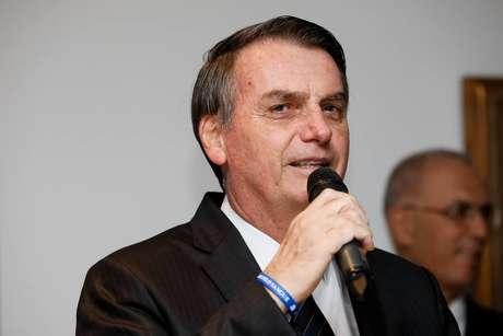 O presidente Jair Bolsonaro em evento público em São Paulo