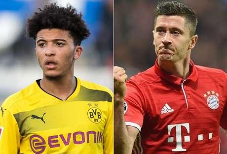 Borussia está em primeiro na Bundesliga com 63 pontos e o Bayern vem logo atrás com 61 (Foto: Reprodução/AFP)