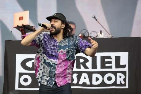 Show de Gabriel, O Pensador, no terceiro dia do festival Lollapalooza Brasil, realizado no Autódromo de Interlagos, na zona sul da capital paulista, neste domingo (7)