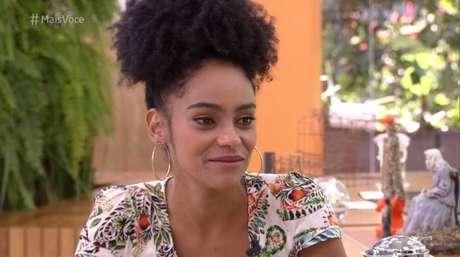 Gabriela, eliminada do 'BBB 19', no 'Mais Você'.