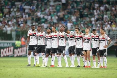 Jogadores do São Paulo durante a disputa de pênaltis - FOTO: Rubens Chiri/saopaulofc.net