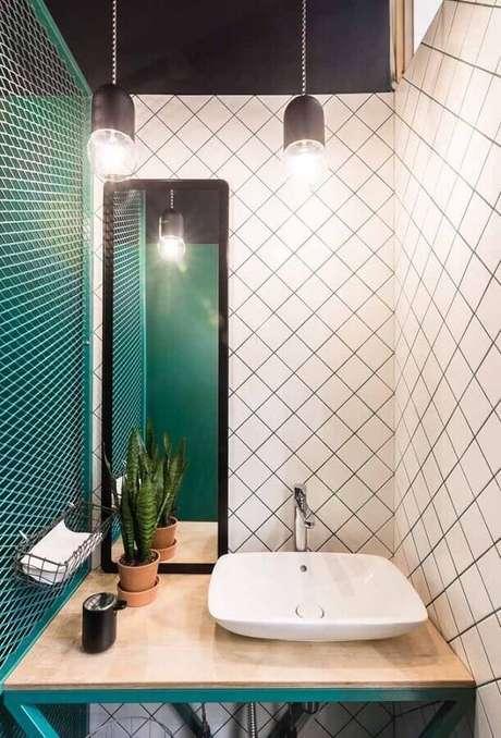 15. O verde água pode ser usado apenas em alguns detalhes em ambientes com decoração moderna – Foto: Design Ideas