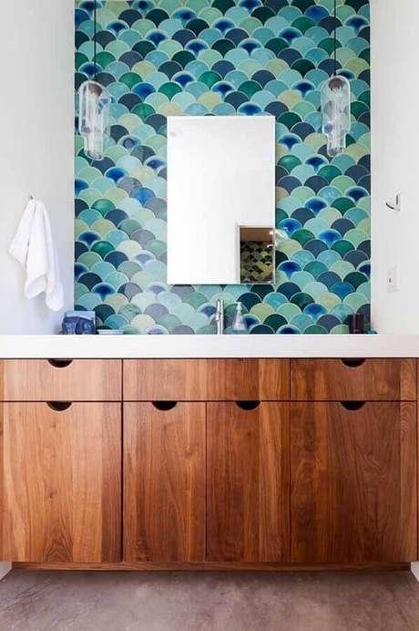 22. Uma maneira de inserir tons de vede água na decoração é utilizando objetos decorativos – Foto: My Karma Stream