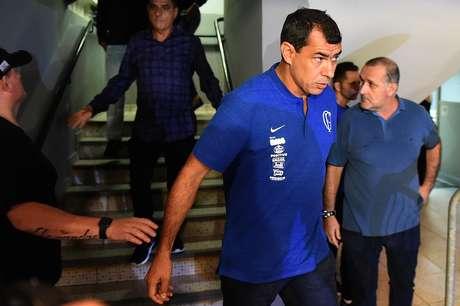 O técnico do Corinthians, Fabio Carille