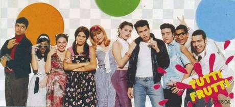 Elenco do seriado 'Sandy e Junior' em 'Tutti Frutti - O Musical'.