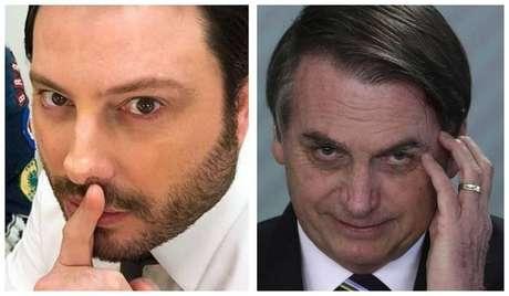 O humorista Danilo Gentili e o presidente da República, Jair Bolsonaro
