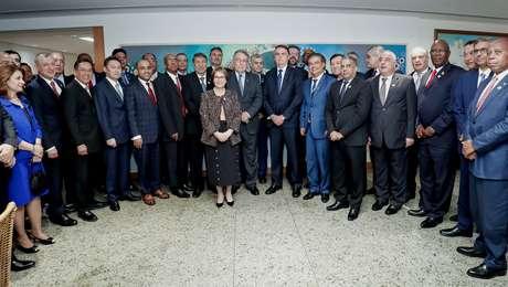 Presidente da República, Jair Bolsonaro durante durante jantar de Confraternização da Federação das Associações Mulçumanas do Brasil (FAMBRAS).