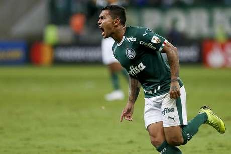 Comemoração do segundo gol do Palmeiras, marcado por Dudu durante o jogo entre Palmeiras e Junior Barranquilla realizado no Allianz Parque em São Paulo, SP. A partida é válida pela 4ª rodada do Grupo F da Copa Libertadores 2019.