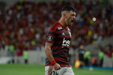 Arrascaeta marcou um dos gols na goleada (Foto: Alexandre Vidal / Flamengo)