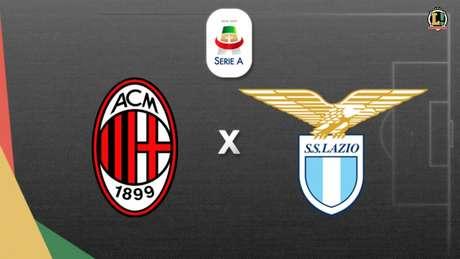 Milan e Lazio fazem confronto direto no Campeonato Italiano (Foto: Arte/ Lance!)