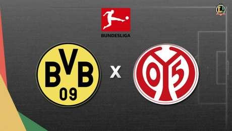 Após ser goleado, Dortmund tenta a recuperação diante do Mainz (Foto: Arte/ Lance!)