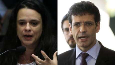 Janaina Paschoal, deputada estadual do PSL-SP,e Marcelo Alvaro Antonio, ministro do Turismo