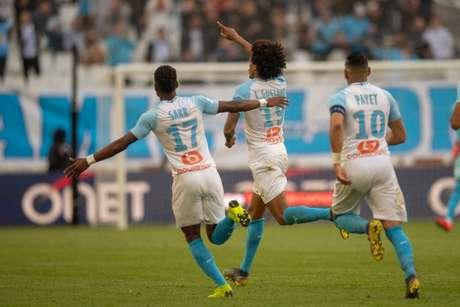 Luiz Gustavo brilhou pelo Olympique (Foto: AFP)