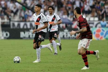 Marrony durante primeira partida entre Vasco X Flamengo pelo campeonato Carioca 2019 no estádio Nilton Santois neste domingo (14/04).