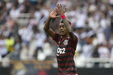Bruno Henrique durante Vasco x Flamengo pelo primeiro jogo da final do Campeonato Carioca realizada no Estádio Nilton Santos no Rio de Janeiro, RJ, na tarde deste domingo (14)