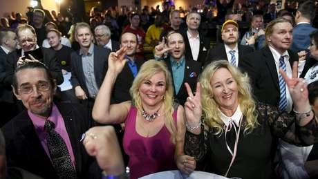 Os membros do partido Verdadeiros Finlandes não esperavam um resultado tão favorável