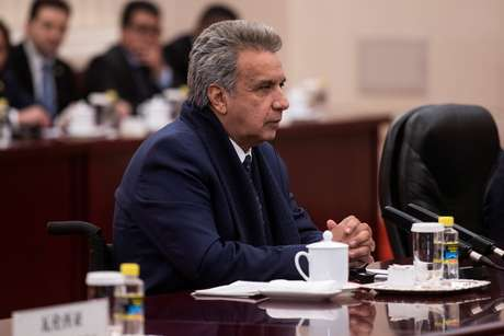 Presidente do Equador, Lenín Moreno, durante reunião em Pequim 13/12/2018 Fred Dufour/Pool via REUTERS