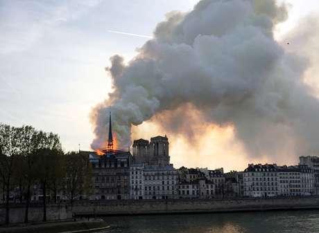 Incêndio na Catedral de Notre Dame, em Paris