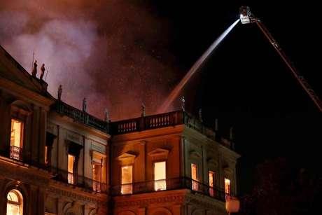 Incêndio devastou o Museu Nacional, no Rio de Janeiro, em setembro de 2018